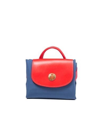TH Bags TH Bags Fermuarlı Mıknatıslı Kapama Suni Deri Kadın Sırt Çantası Renkli